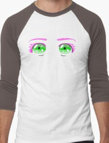 Pink Eyelashes Men's Baseball ¾ T-Shirt