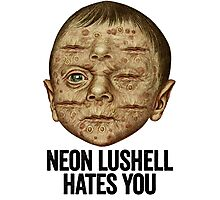 Neon Lushell Hates You Photographic Print