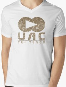 DOOM UAC Vintage Mens V-Neck T-Shirt