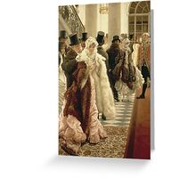 Vintage famous art - James Tissot - The Woman Of Fashion Greeting Card