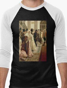 Vintage famous art - James Tissot - The Woman Of Fashion Men's Baseball ¾ T-Shirt