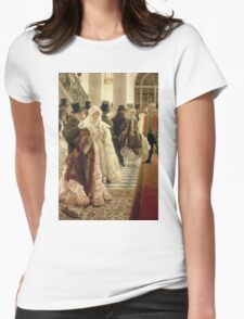 Vintage famous art - James Tissot - The Woman Of Fashion Womens Fitted T-Shirt
