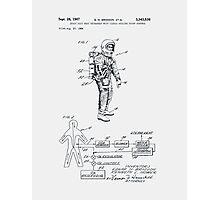 Space Suit Patent 1967 Photographic Print