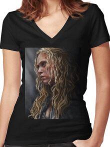 clexa Women's Fitted V-Neck T-Shirt