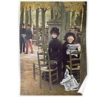 Vintage famous art - James Tissot - Without A Dowry Poster
