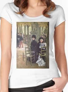 Vintage famous art - James Tissot - Without A Dowry Women's Fitted Scoop T-Shirt