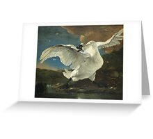 Vintage famous art - Jan Asselyn - The Threatened Swan Greeting Card