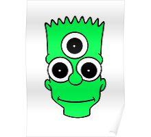 Alien Bart Poster