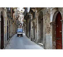 Police patrol in the streets of Siracusa Photographic Print