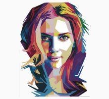 Scarlet Johansson | PolygonART One Piece - Long Sleeve