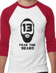 James Harden Fear the Beard - Black Men's Baseball ¾ T-Shirt