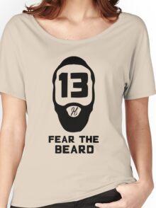James Harden Fear the Beard - Black Women's Relaxed Fit T-Shirt