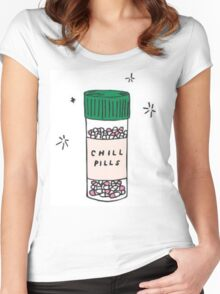 CHILL PILLS Women's Fitted Scoop T-Shirt