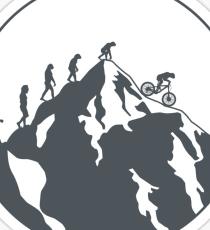 Evolution of Mountain biking   2 Sticker