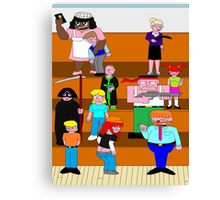 Dysfunction-School Shot Canvas Print