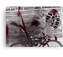 Crime Evidence - Blood and Scissors Canvas Print