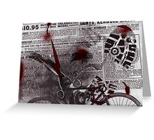 Crime Evidence - Blood and Scissors Greeting Card