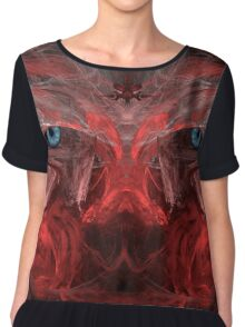 Ancient Eyes - Abstract Psychedelic Art Concept Chiffon Top