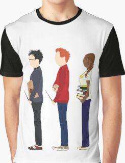 Harry Potter, Ron Weasley and Hermione Granger Graphic T-Shirt