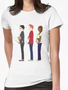 Harry Potter, Ron Weasley and Hermione Granger Womens Fitted T-Shirt