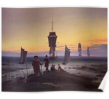 Vintage famous art - Caspar David Friedrich  - The Stages Of Life Poster