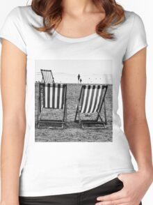 fun down the beach  Women's Fitted Scoop T-Shirt