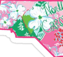 North Carolina Lilly Pattern Sticker
