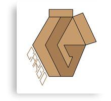 "CARGO Big Logo ""Cardboard #1"" by Rilwan Kujenya Canvas Print"