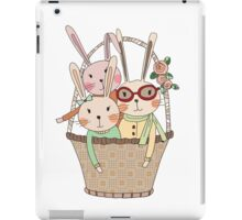 Easter Three Bunnies in a Basket iPad Case/Skin