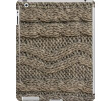 Background: knitted texture iPad Case/Skin