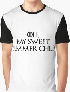 Summer Child-GOT-Black Graphic T-Shirt