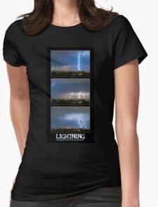Lightning - Atmospheric Electrostatic Discharge. Womens Fitted T-Shirt