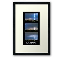 Lightning - Atmospheric Electrostatic Discharge. Framed Print