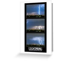 Lightning - Atmospheric Electrostatic Discharge. Greeting Card
