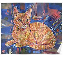 Ginger cat painting - 2016 Poster