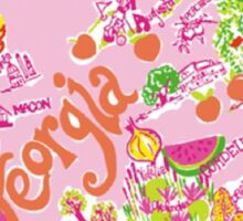 Georgia Lilly Pattern Sticker