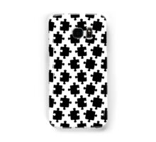Puzzled Pattern - Classic Black & White Puzzles Samsung Galaxy Case/Skin
