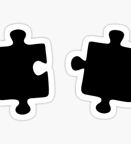 Puzzled Pattern - Classic Black & White Puzzles Sticker