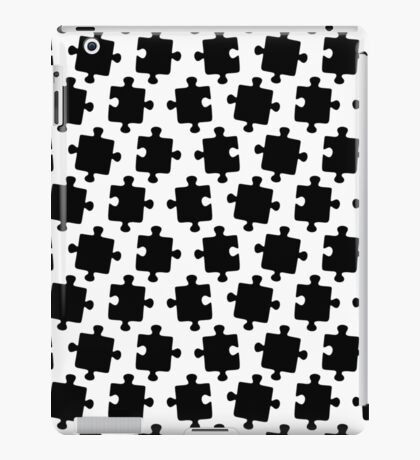 Puzzled Pattern - Classic Black & White Puzzles iPad Case/Skin