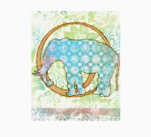 Pop Painted Watercolor - Bright and Bold turquoise blue and white pattern - elephant Unisex T-Shirt