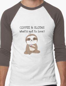 Cute Animals Coffee And Sloths Men's Baseball ¾ T-Shirt