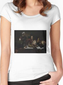 The Supper at Emmaus - Caravaggio Women's Fitted Scoop T-Shirt