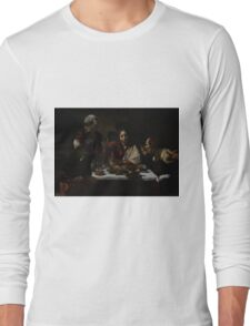 The Supper at Emmaus - Caravaggio Long Sleeve T-Shirt