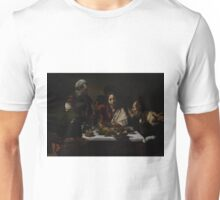 The Supper at Emmaus - Caravaggio Unisex T-Shirt