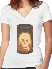 Head in a Jar Women's Fitted V-Neck T-Shirt