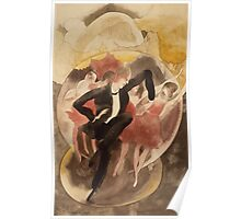 Vintage famous art - Charles Demuth - In Vaudeville (Dancer With Chorus) Poster