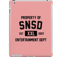 Property of SNSD (Black Ver) iPad Case/Skin