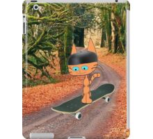 Cat On His SkateBoard iPad Case/Skin