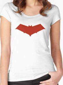Red Hood Logo Women's Fitted Scoop T-Shirt