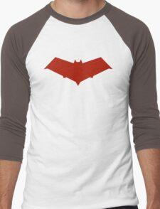 Red Hood Logo Men's Baseball ¾ T-Shirt